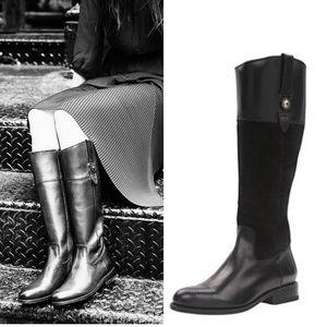 🆕FRYE Jayden Button Cowboy Tall Riding Boot Black